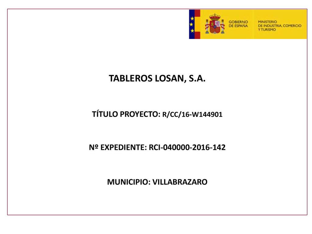 Proyecto Reindus 2016 Tableros Losán S.A.