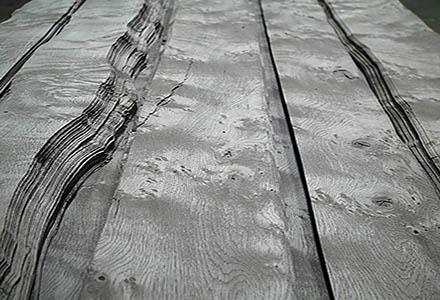 Panneau Placage Chêne Rustique Vieilli