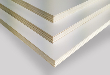 Poplar plywood Painted White