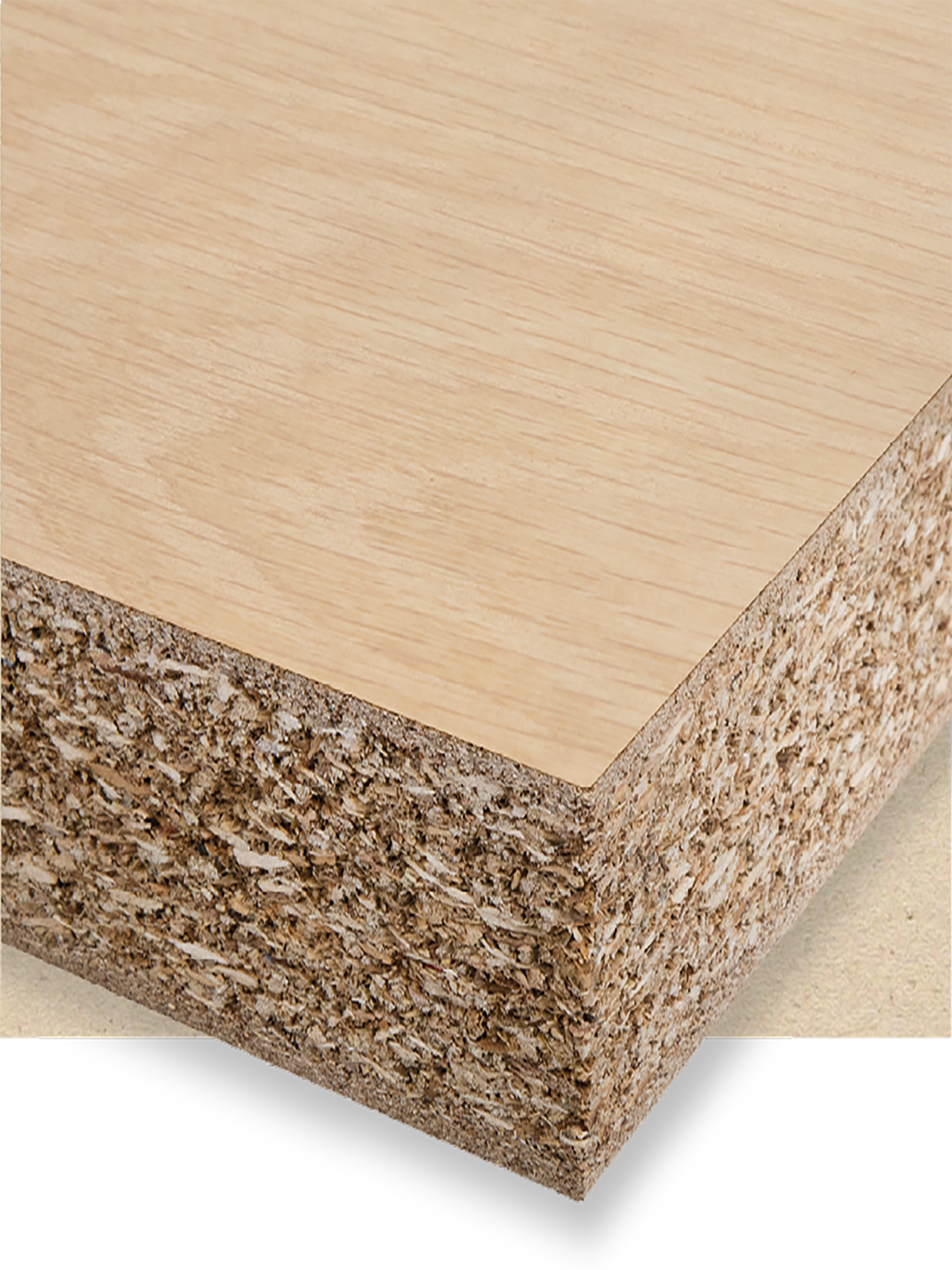 Veneered light weight chipboard E1