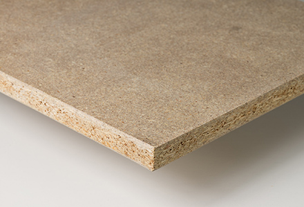 Chipboard or particle board